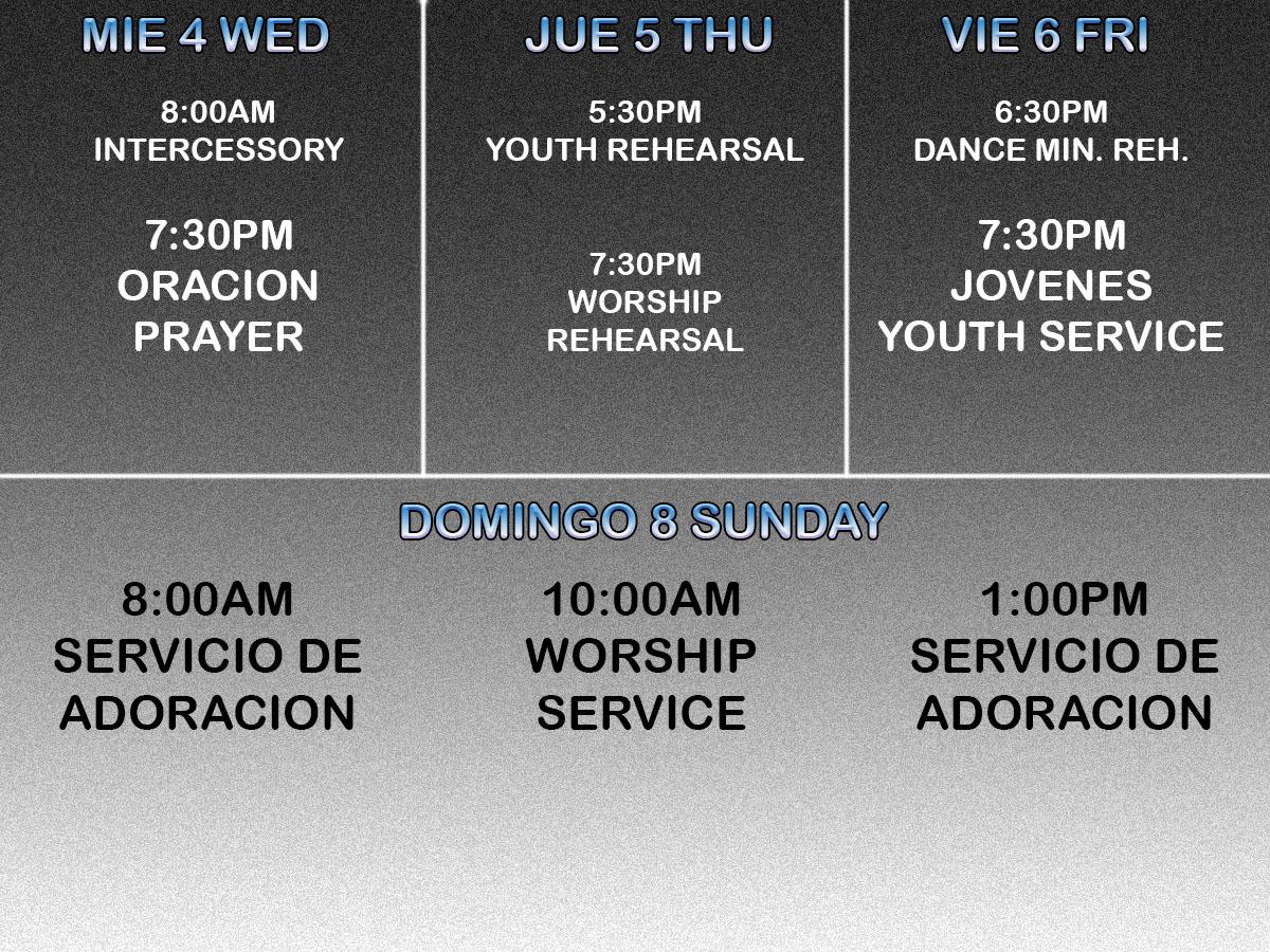 Activities January 2 - 8, 2016