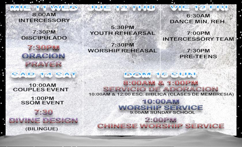 Actividades 9 - 15 Enero, 2016