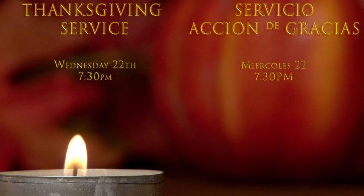 Thanksgiving Service 2017