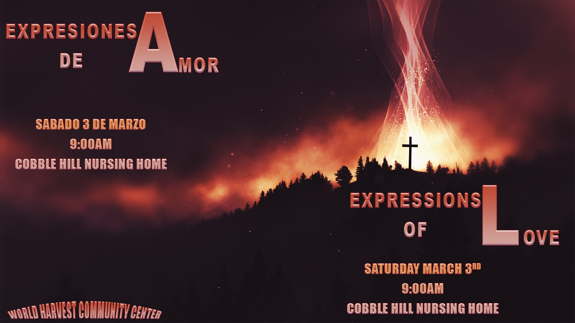 Expressions of Love Saturday March 3rd.