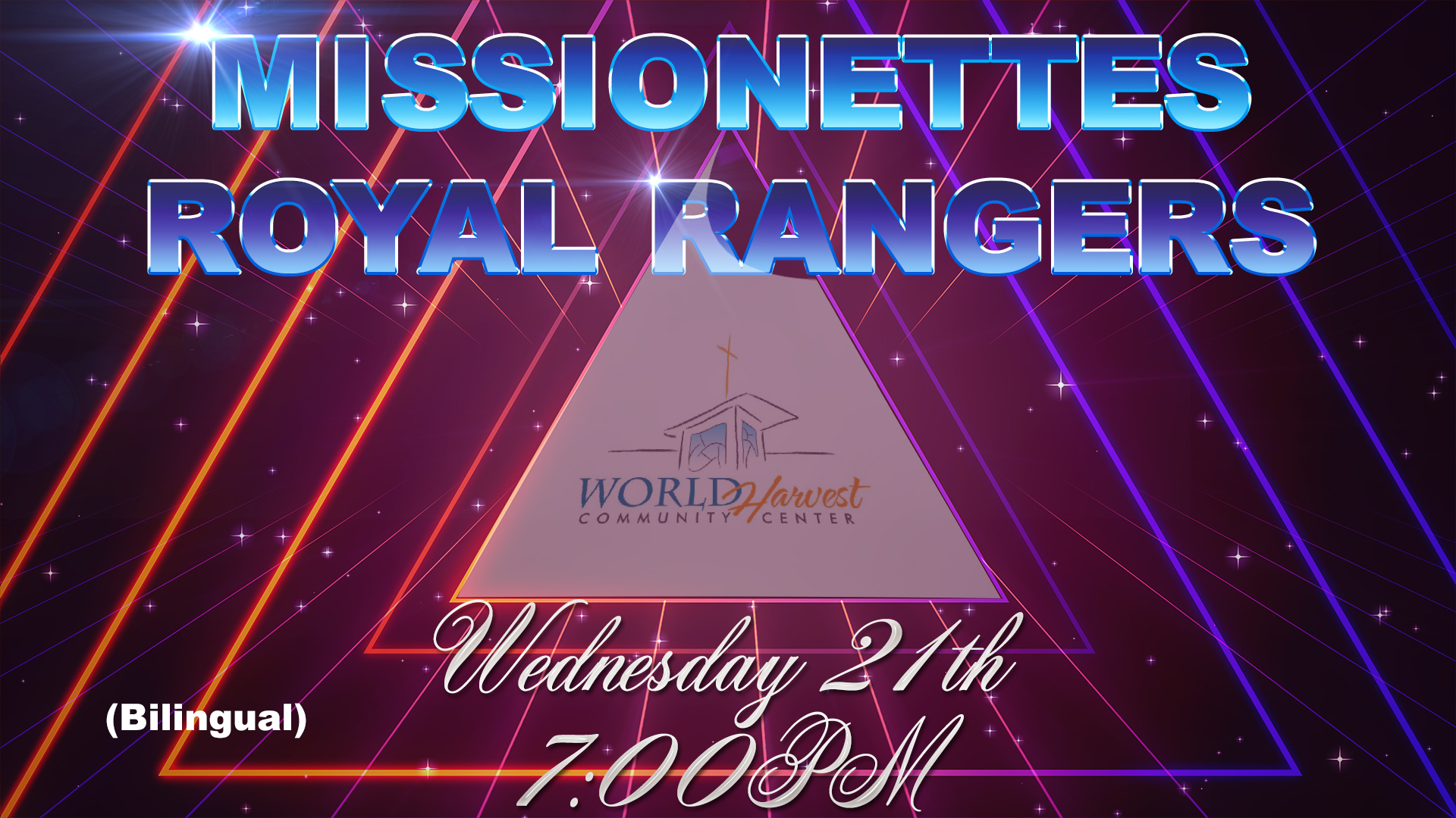 Missionettes & Royal Rangers Wed. March 21st.