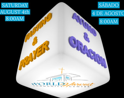 Fasting & Prayer Sat. August 4th