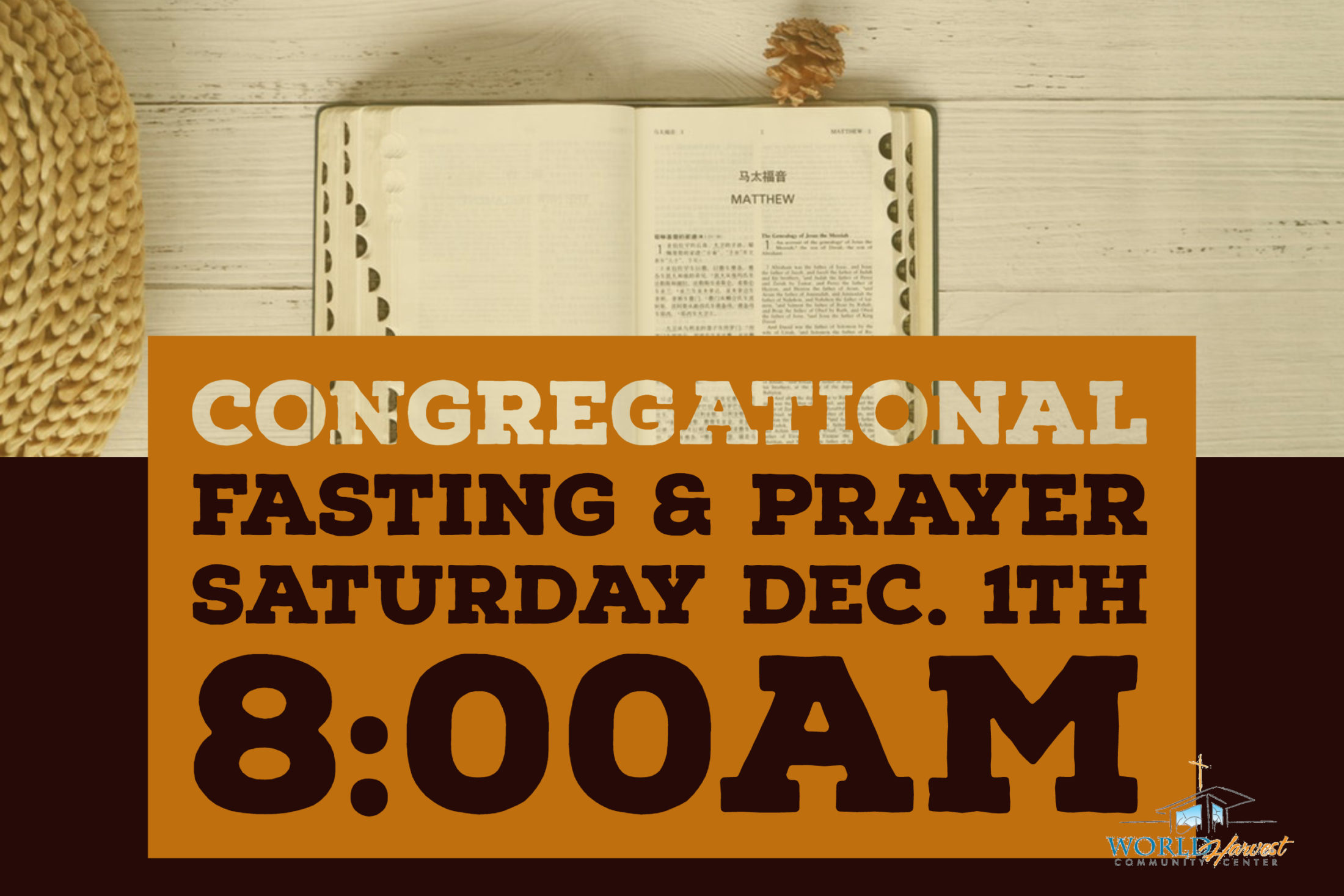 Fasting & Prayer Congregational Dec. 1th
