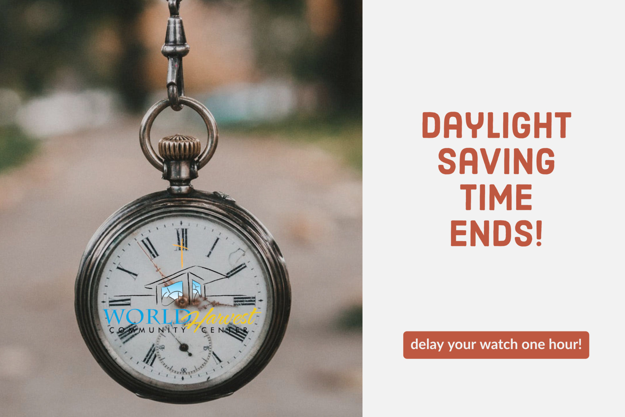 Daylight saving time end!